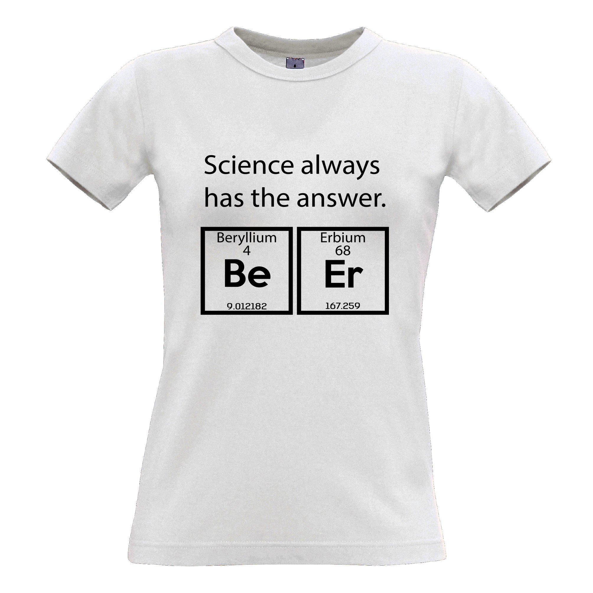Tim and Ted en Buvant T-Shirt La Science a Toujours la bière Réponse Vêtements Vêtements techniques et spéciaux