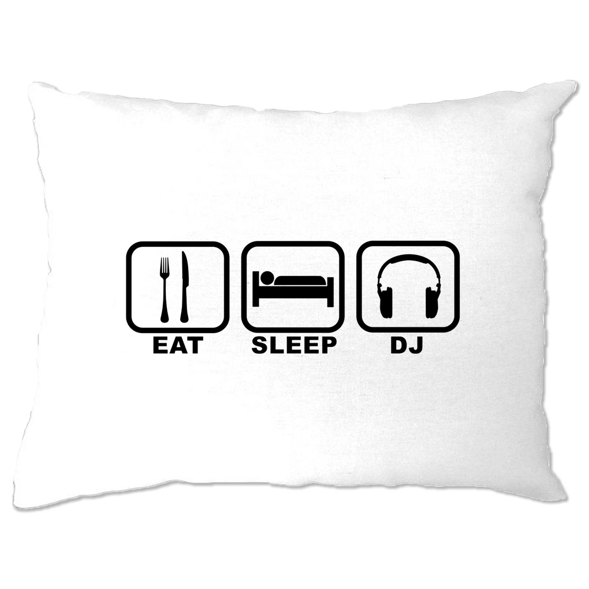 Then DJ Symbols Party Clubbing Techno Music Sleep Novelty T Shirt Eat