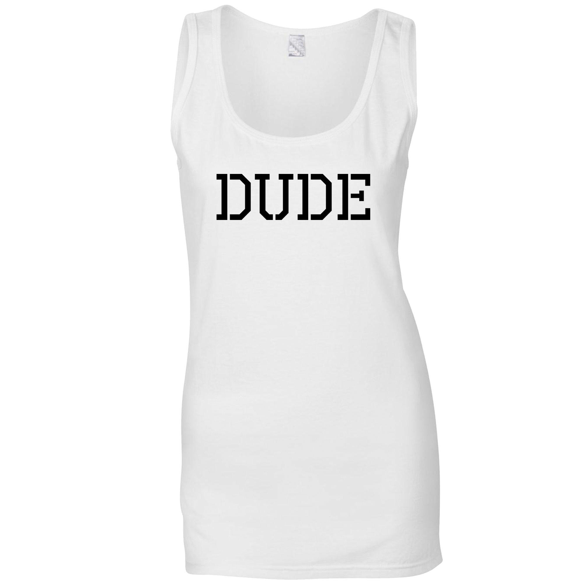 Dude Friend Mate Forever Cool Funny Men Women Unisex T Shirt Tank Top Vest 889
