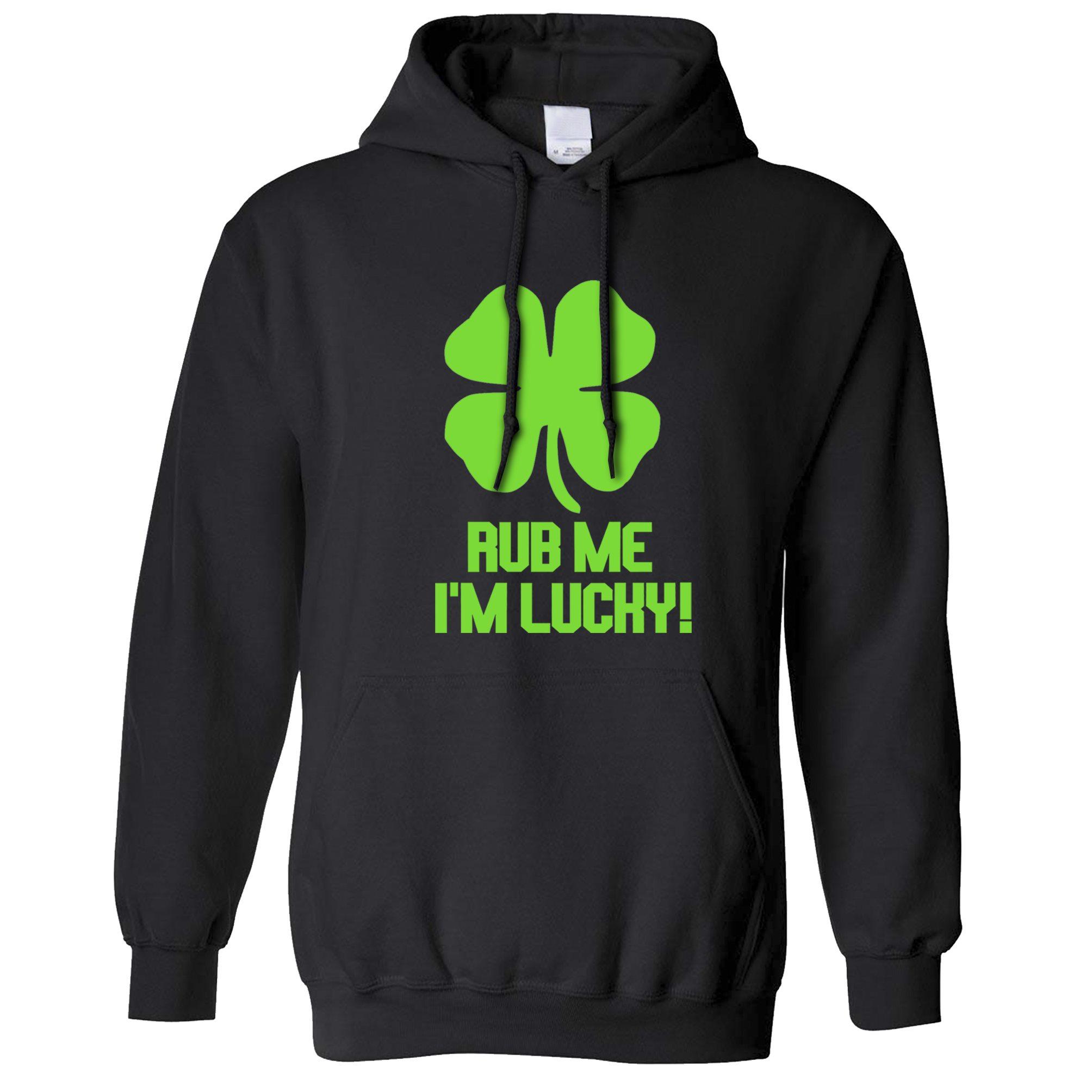 Green Clover Irish Lucky St Patricks Day Ireland Eire Hoodie Pullover Sweatshirt