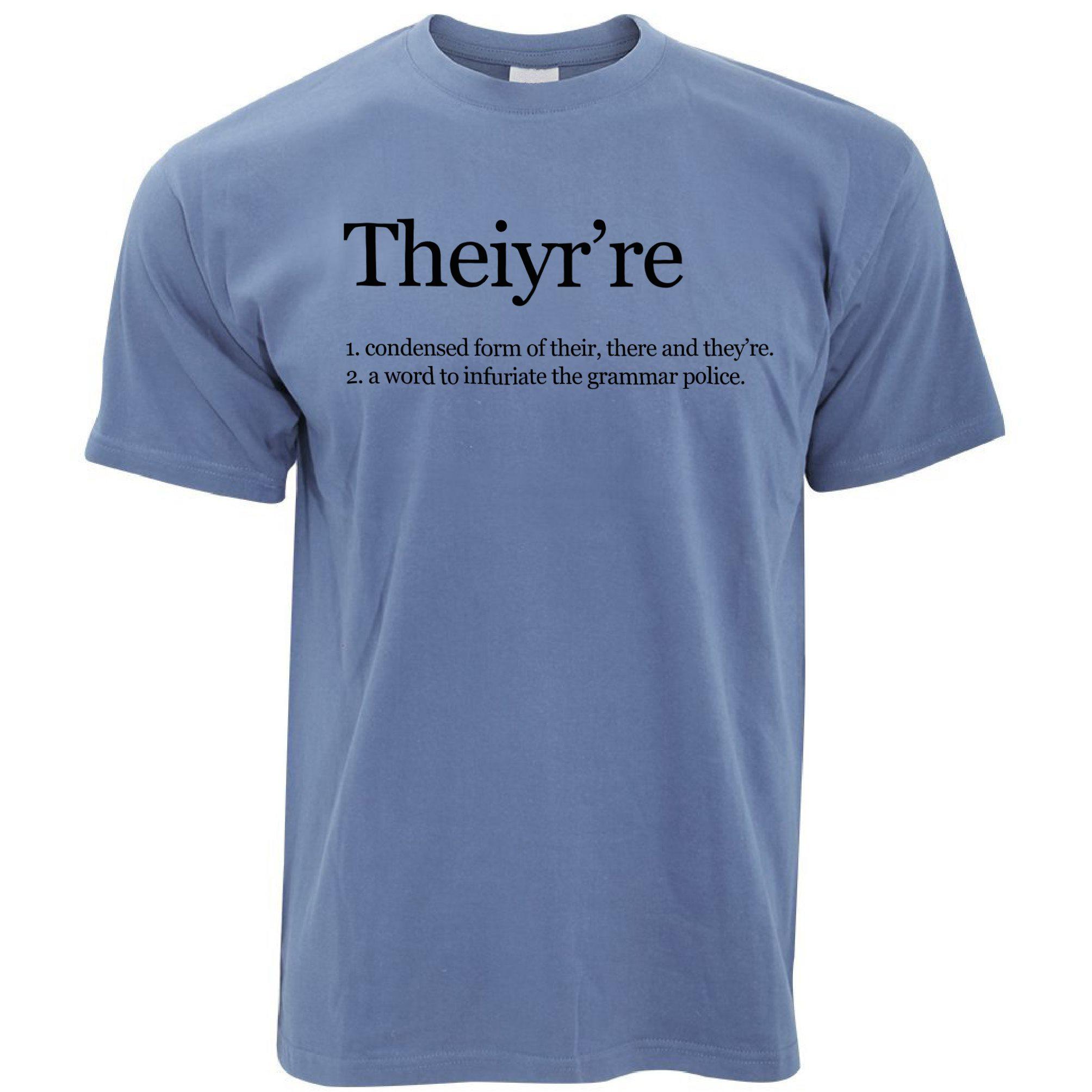Theiyrere Definition Grammar Police Womens T-Shirt