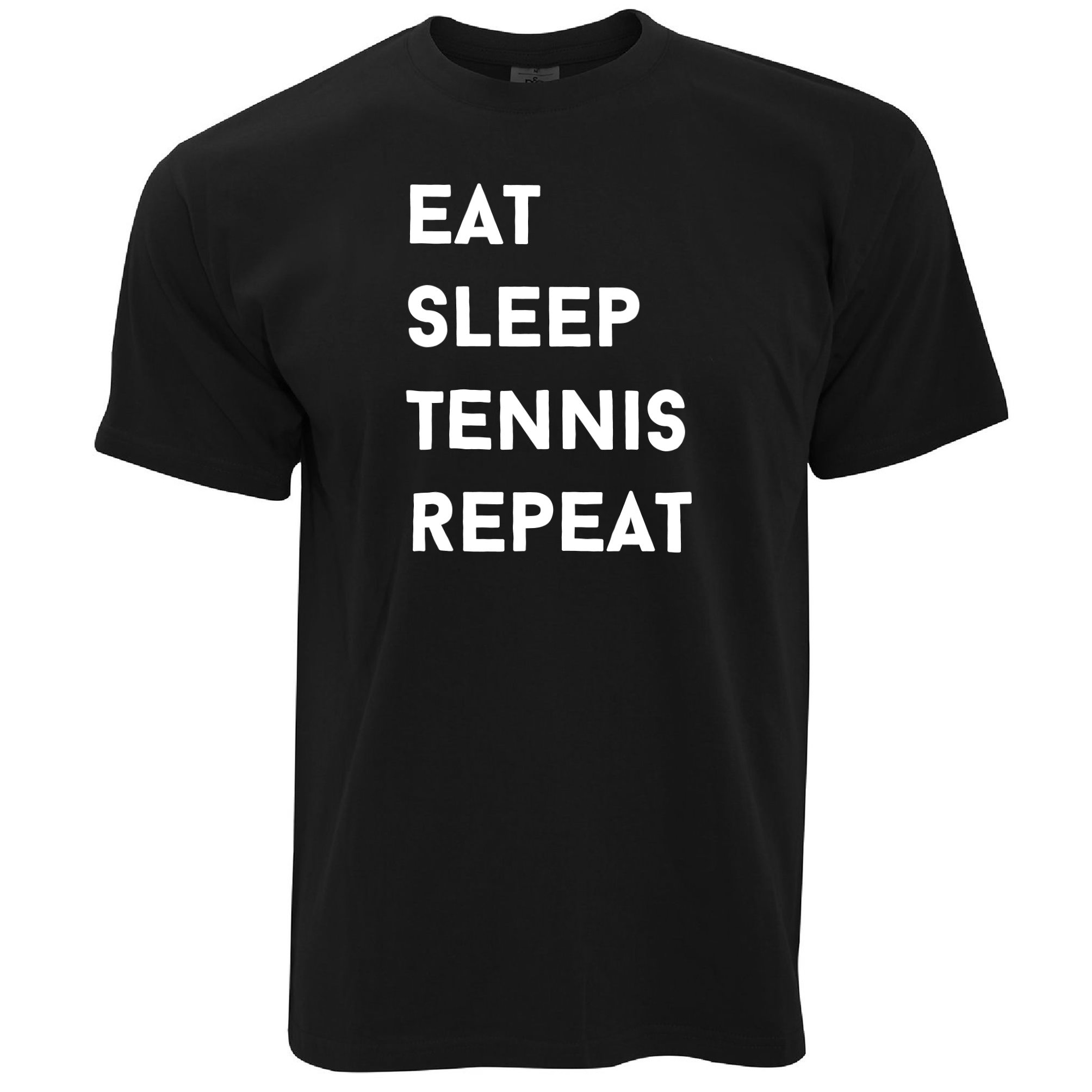 Sport Frauen T-Shirt Essen Wiederholen Slogan schlafen Tennis