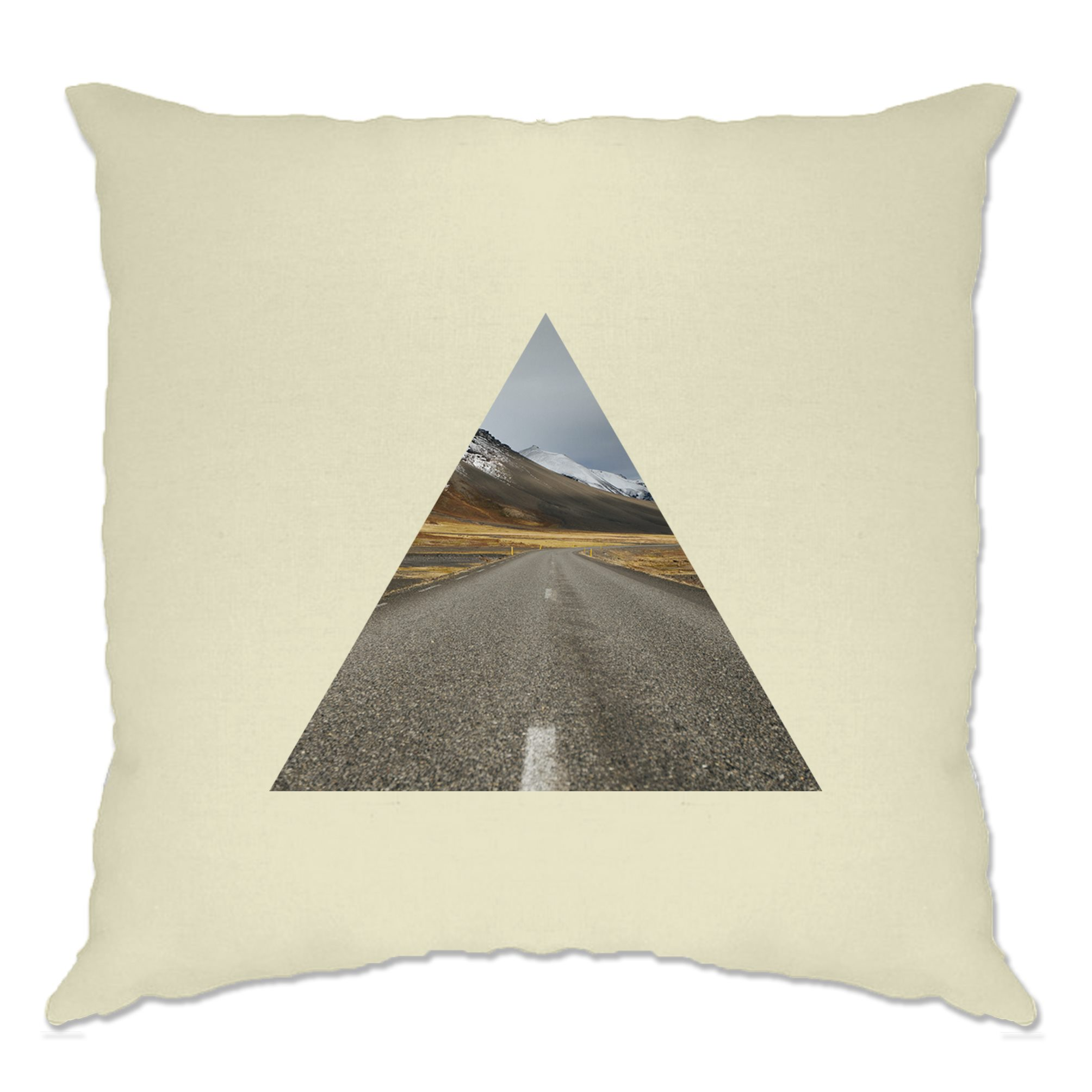 """45CM FAUX SUEDE CUT OUT TRIANGLE OVAL FAUX SILK BLUE GREY CUSHION COVER 18"""""""