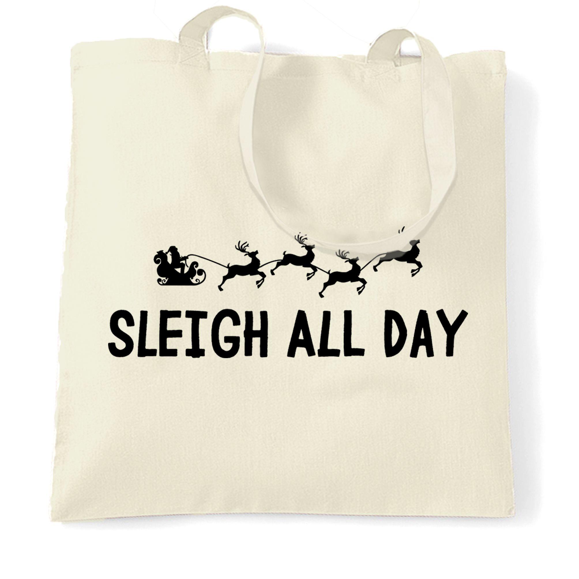 Joke Christmas Tote Bag Nice Did My Best Funny Gift Idea Xmas Naughty