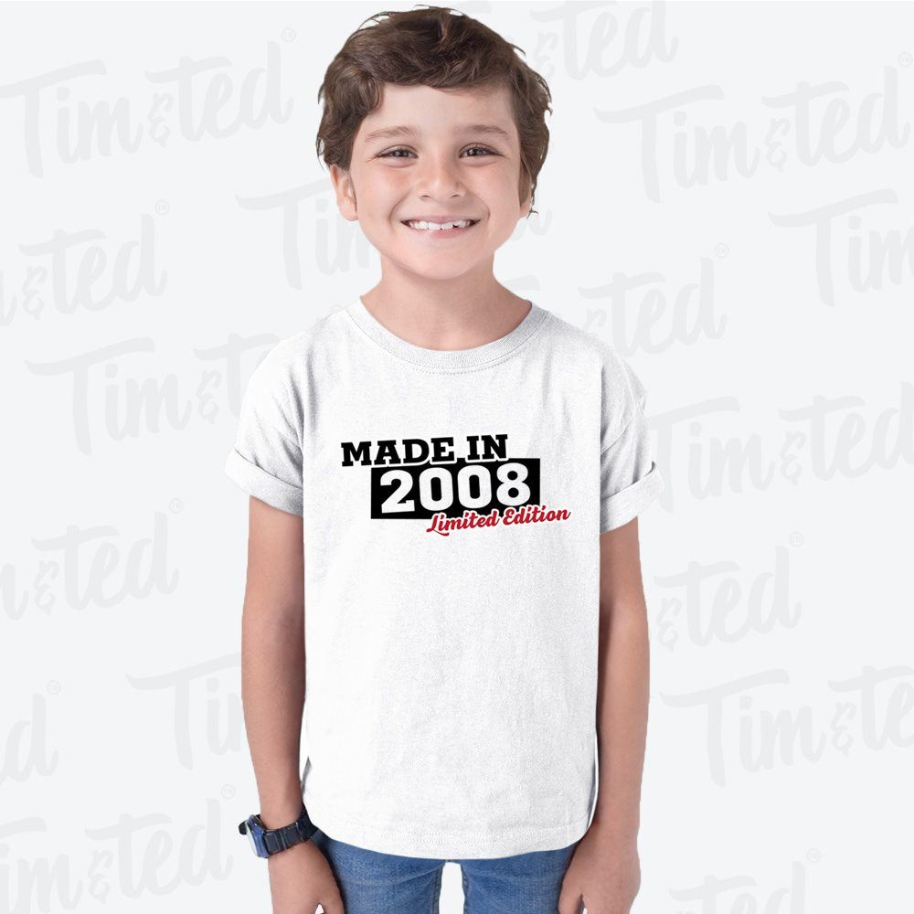 14th Birthday Kids T Shirt Made In 2006 Limited Edition Exclusive Block Logo