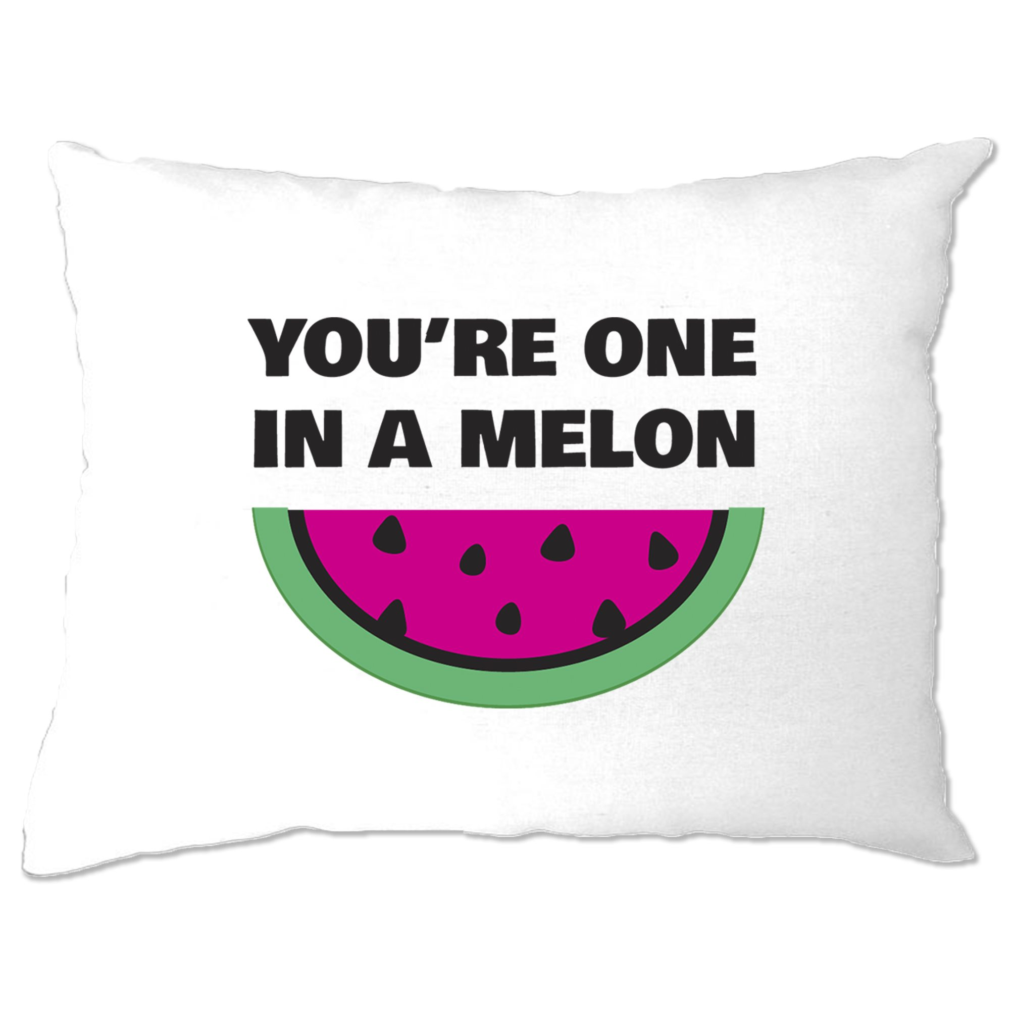 Valentines Day Pillow Case You Re One In A Melon Joke Funny Fruit Pun Ebay
