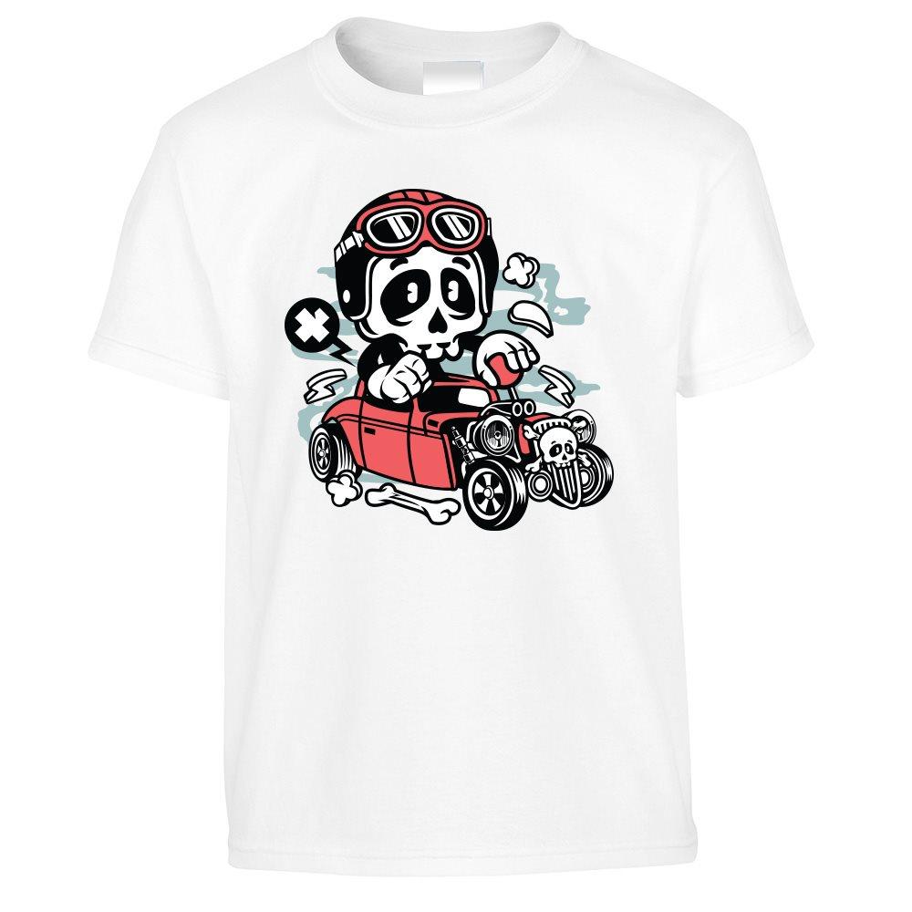 Halloween Kid/'s T Shirt Costume Skeleton Go Kart Scary Speed Demon Gift Idea